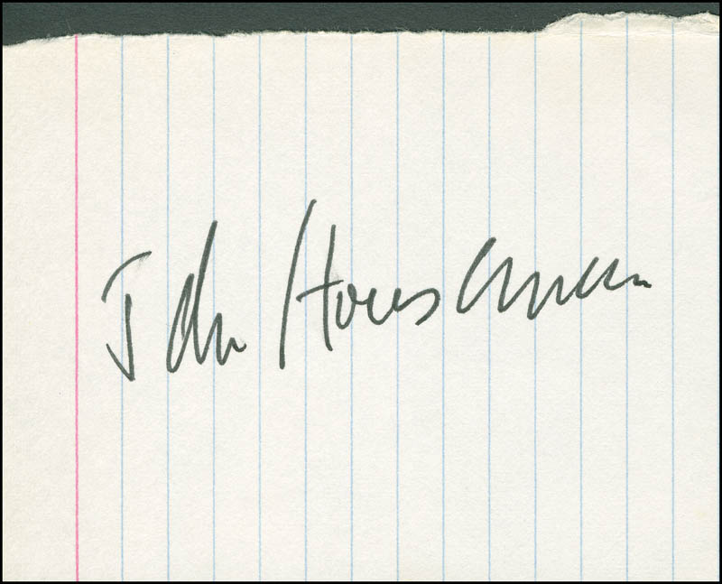 Image 1 for John Houseman - Autograph - HFSID 298873