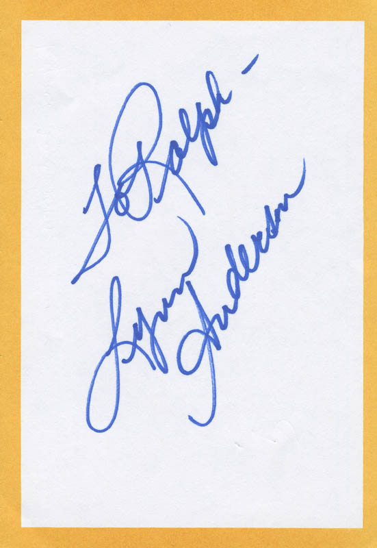 Image 1 for Lynn Anderson - Inscribed Signature - HFSID 298874