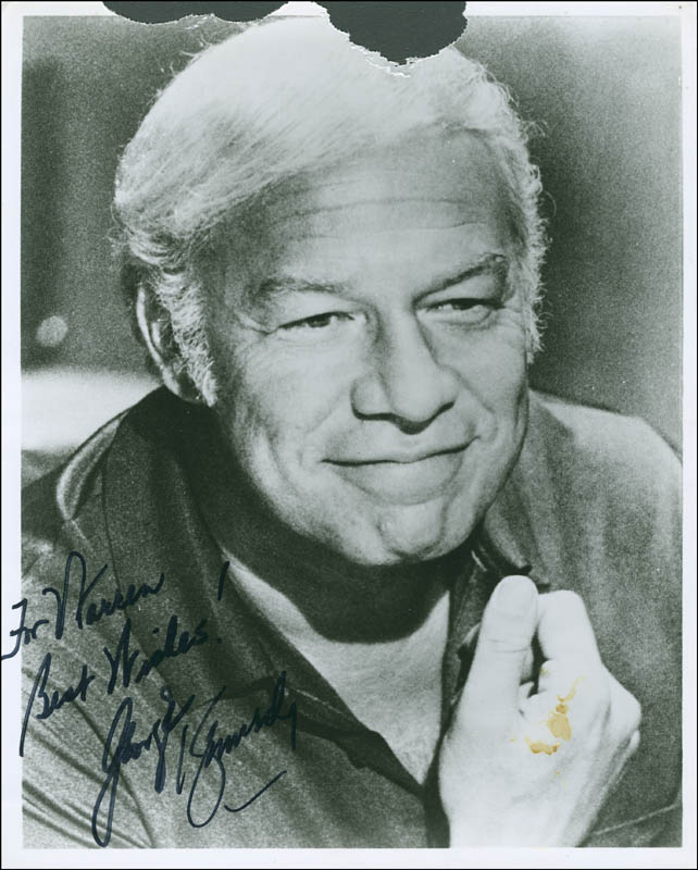 Image 1 for George Kennedy - Autographed Inscribed Photograph - HFSID 298892