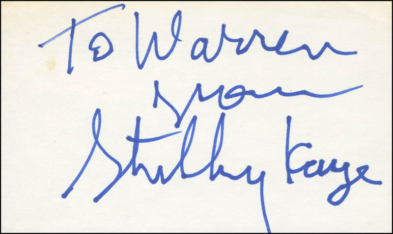 Image 1 for Stubby Kaye - Autograph Note Signed - HFSID 298930