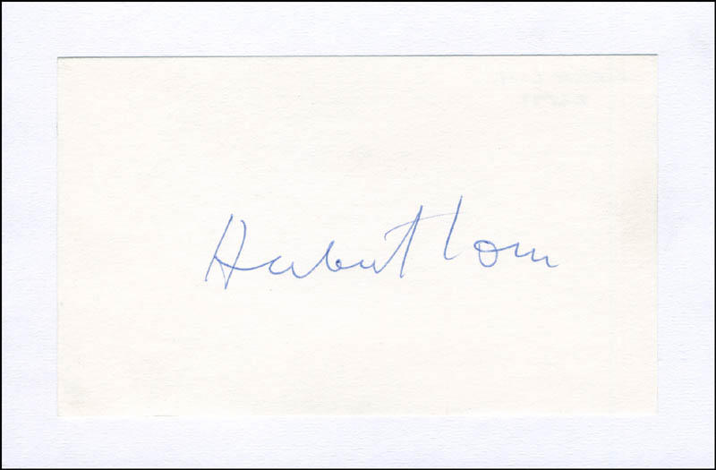 Image 1 for Herbert Lom - Autograph - HFSID 298989