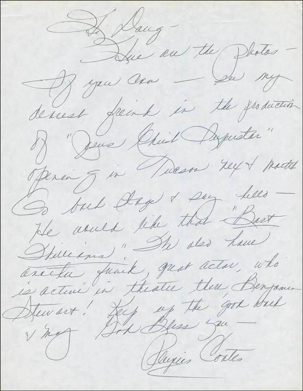 Image 1 for Phyllis Coates - Autograph Letter Signed - HFSID 299090