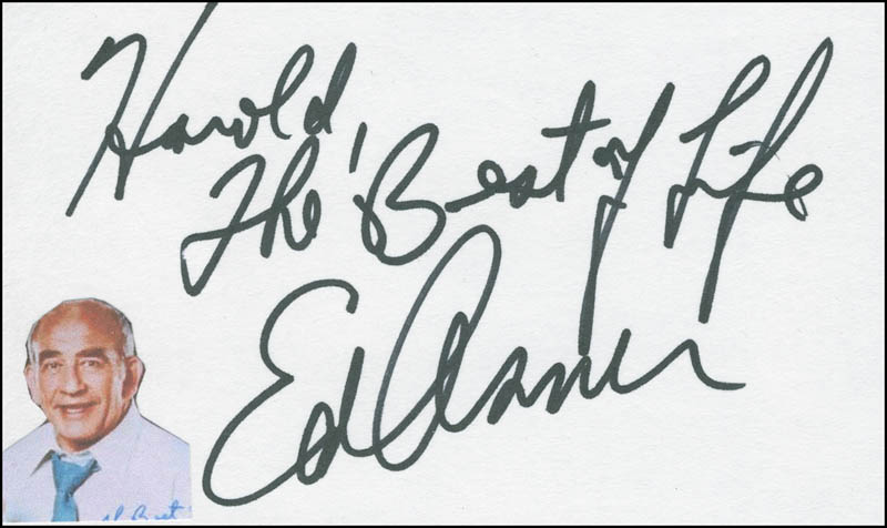 Image 1 for Ed Asner - Autograph Note Signed - HFSID 299116