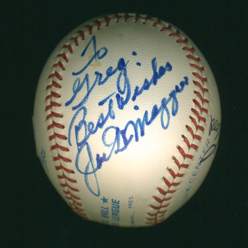 Image 4 for Curt Flood - Autographed Signed Baseball co-signed by: Willie 'Stretch' Mccovey, Ernie 'Mr. Cub' Banks, Rollie Fingers, Joe Dimaggio - HFSID 299123