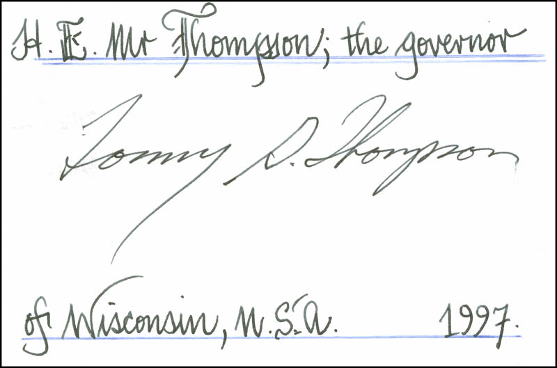 Image 1 for Tommy G. Thompson - Autograph - HFSID 299167