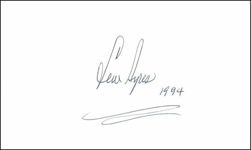 Image 1 for Lew Ayres - Autograph 1994 - HFSID 299188
