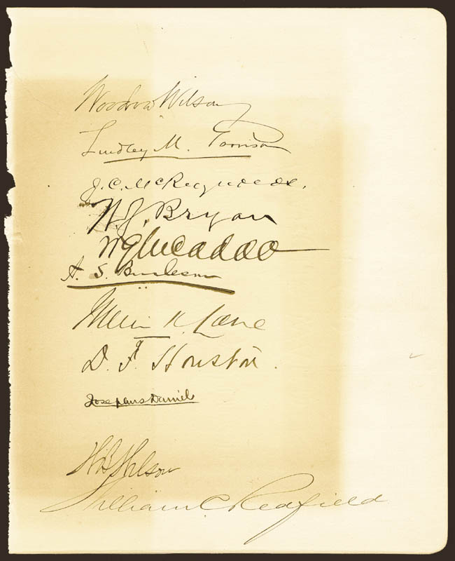 Image 1 for President Woodrow Wilson - Autograph with co-signers - HFSID 29921