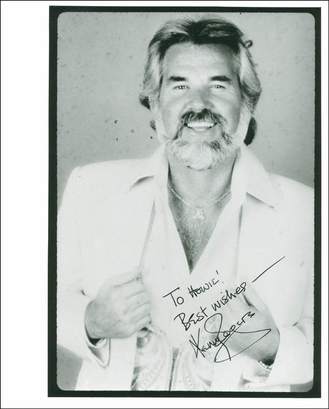 Image 1 for Kenny Rogers - Autographed Inscribed Photograph - HFSID 299213