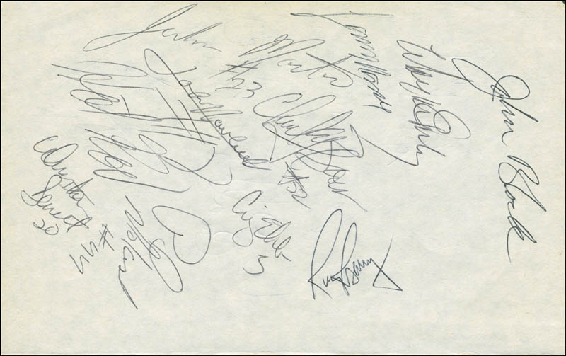 Image 1 for Rick Barry - Autograph with co-signers - HFSID 299228