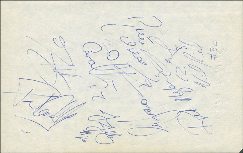 Image 3 for Rick Barry - Autograph with co-signers - HFSID 299228