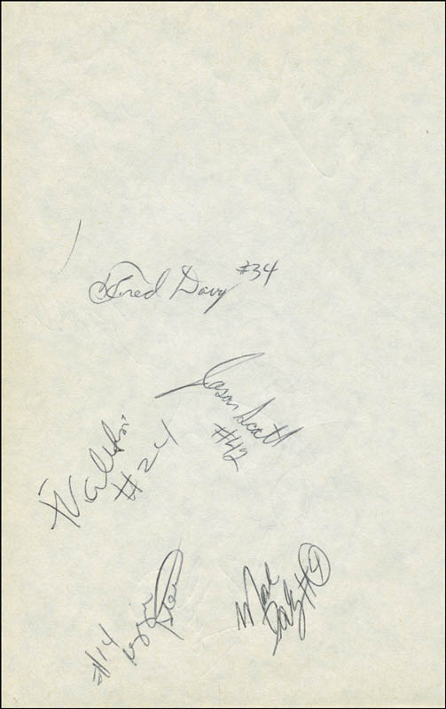 Image 5 for Rick Barry - Autograph with co-signers - HFSID 299228
