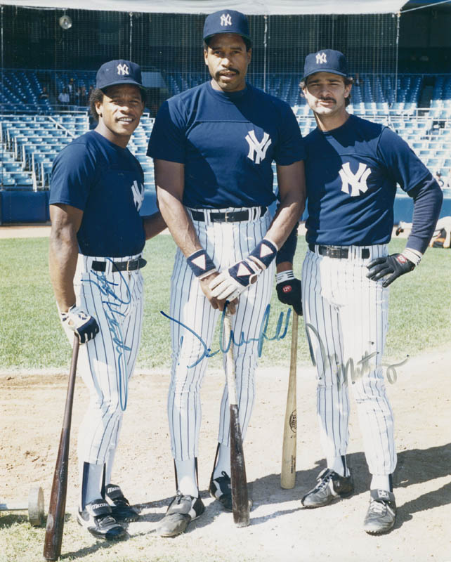 Image 1 for The New York Yankees - Autographed Signed Photograph co-signed by: Dave Winfield, Don Mattingly, Rickey Henderson - HFSID 299244