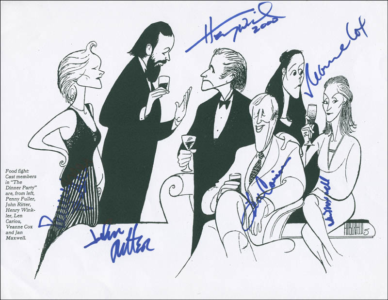 Image 1 for The Dinner Party Broadway Cast - Printed Art Signed 2000 with co-signers - HFSID 299267