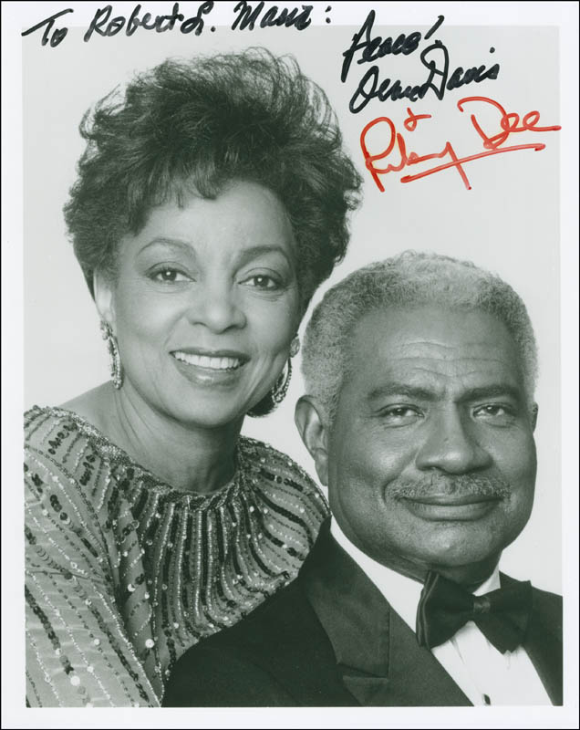 Image 1 for Ossie Davis - Autographed Inscribed Photograph co-signed by: Ruby Dee - HFSID 299271