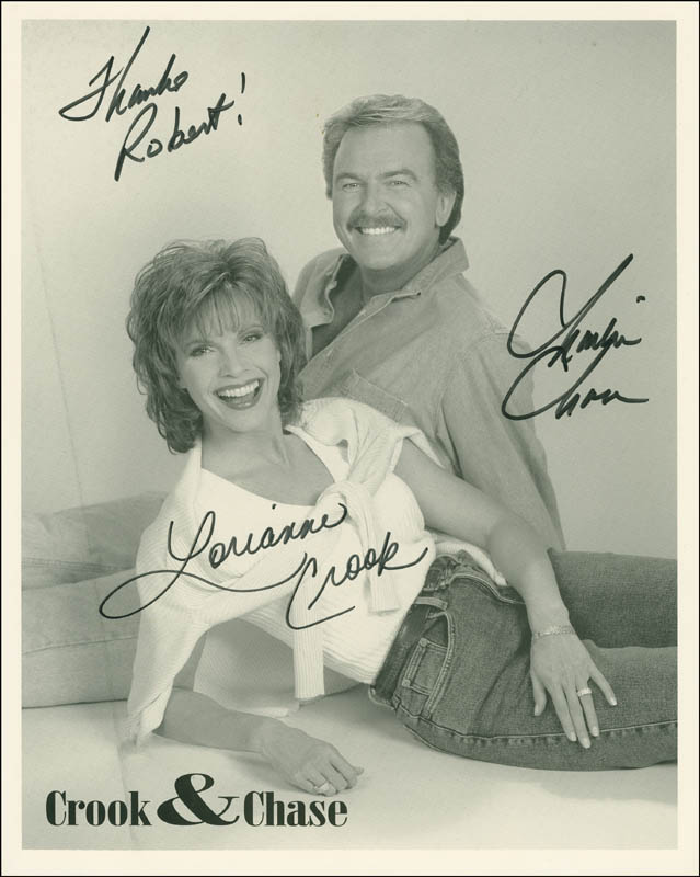 Image 1 for Crook & Chase - Autographed Inscribed Photograph co-signed by: Crook & Chase (Lorianne Crook), Crook & Chase (Charlie Chase) - HFSID 299274