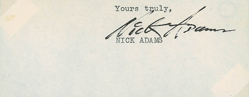 Image 3 for Nick 'The Rebel' Adams - Typed Sentiment Signed - HFSID 299296