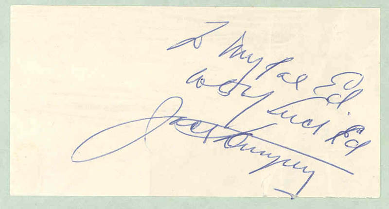 Image 1 for Jack Dempsey - Autograph Note Signed - HFSID 299357
