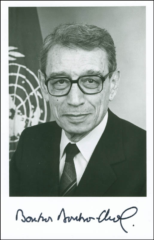 Image 1 for Boutros Boutros-ghali - Autographed Signed Photograph - HFSID 299426