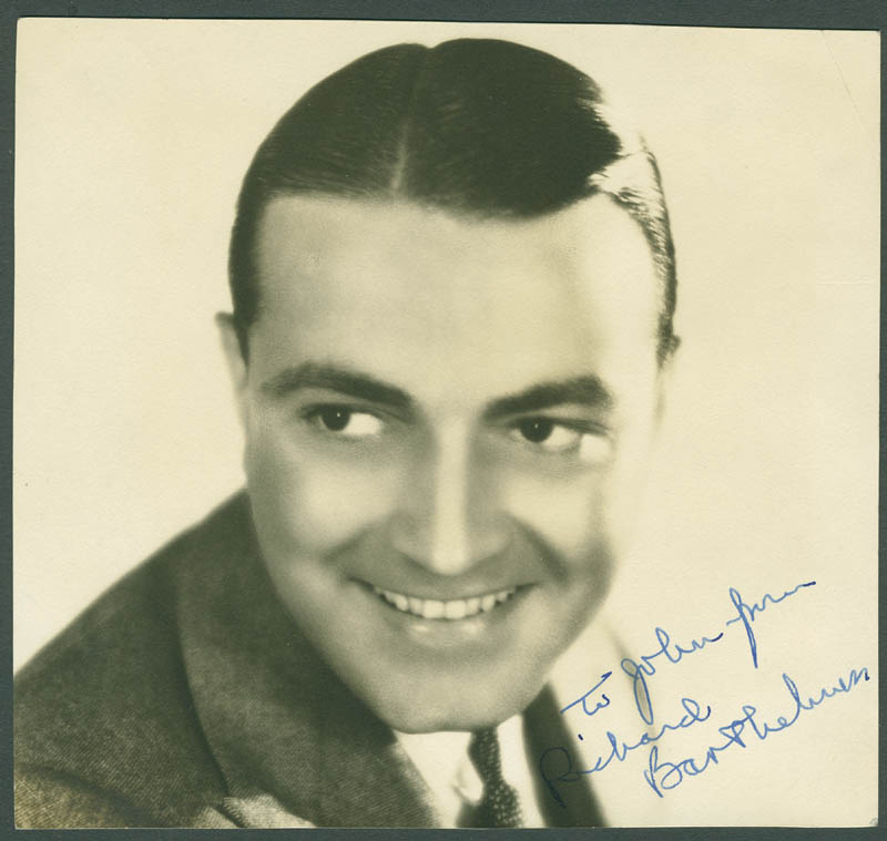 Image 1 for Richard Barthelmess - Autographed Inscribed Photograph - HFSID 299460