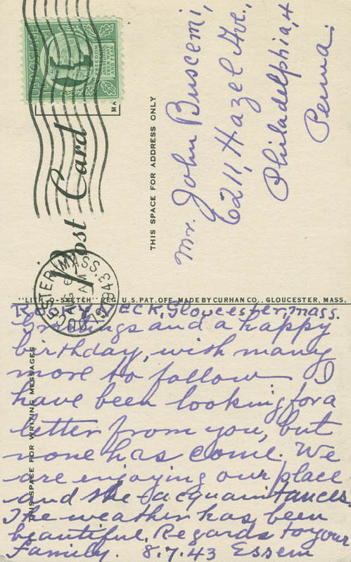 Image 3 for Emile Gruppe - Autograph Letter Signed 08/07/1943 - HFSID 299481