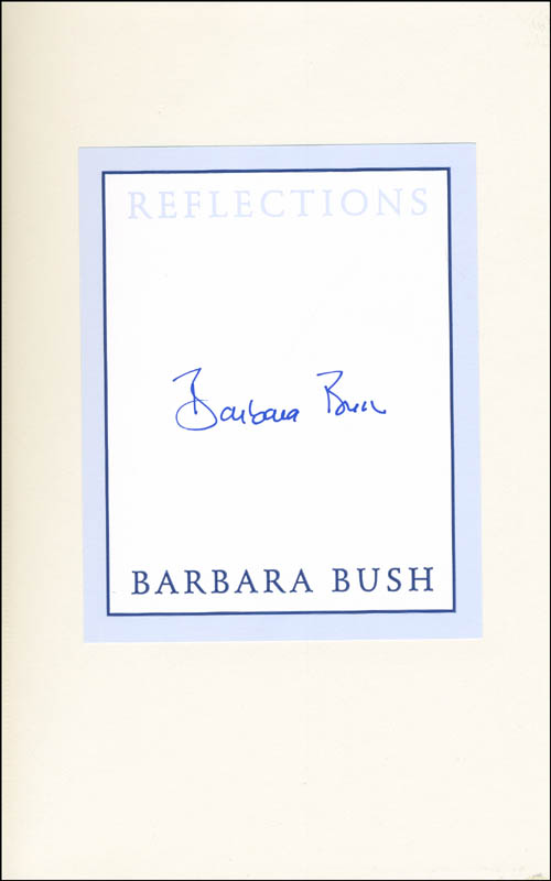 Image 1 for First Lady Barbara Bush - Book Signed - HFSID 299529