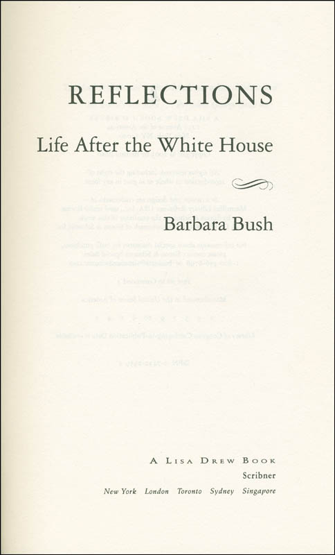 Image 4 for First Lady Barbara Bush - Book Signed - HFSID 299529