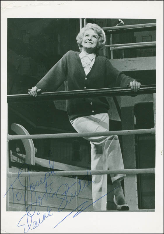 Image 1 for Elaine Stritch - Autographed Inscribed Photograph - HFSID 299590