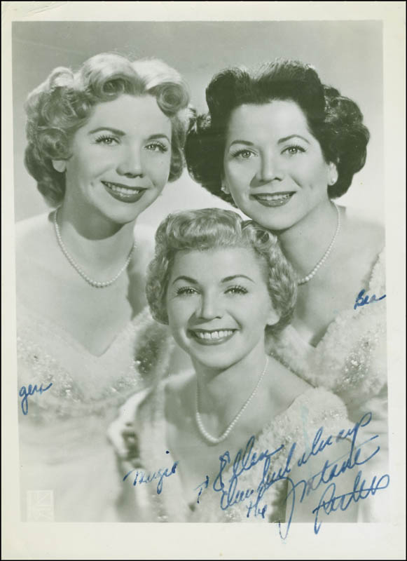 Image 1 for The Fontane Sisters - Autographed Inscribed Photograph with co-signers - HFSID 299640