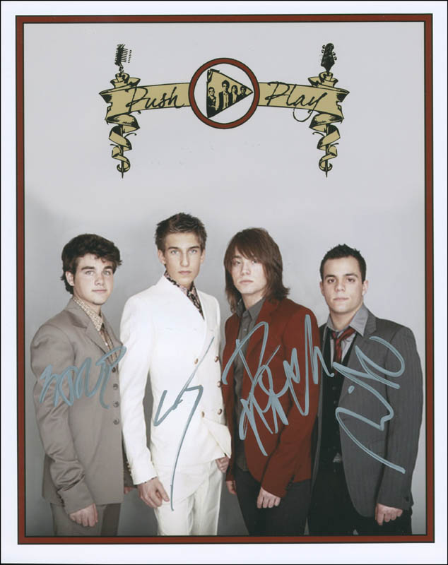 Image 1 for Push Play - Autographed Signed Photograph with co-signers - HFSID 299700