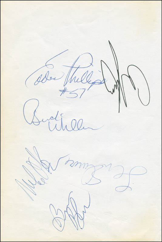 Image 3 for Red (Arnold Jacob) Auerbach - Autograph co-signed by: Buck Williams, Len Elmore, Eddie Phillips, Mike O'Koren, Albert King - HFSID 299859