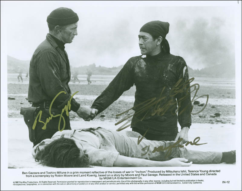 Inchon Movie Cast Photograph Signed With Cosigners Autographs