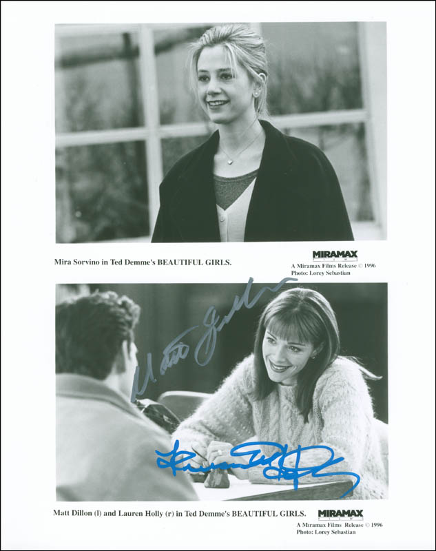 Image 1 for Beautiful Girls Movie Cast - Autographed Signed Photograph co-signed by: Matt Dillon, Lauren Holly - HFSID 299870