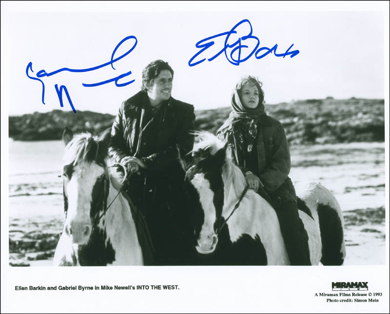 Image 1 for Into The West Movie Cast - Autographed Signed Photograph co-signed by: Ellen Barkin, Gabriel Byrne - HFSID 299875