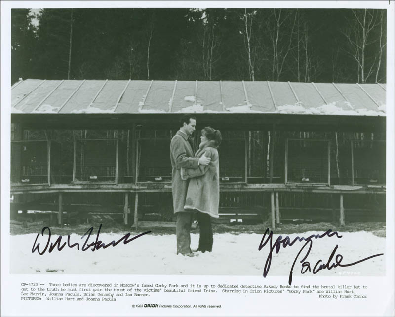 Image 1 for Gorky Park Movie Cast - Autographed Signed Photograph co-signed by: William Hurt, Joanna Pacula - HFSID 299918