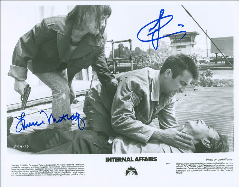 Image 1 for Internal Affairs Movie Cast - Autographed Signed Photograph co-signed by: Andy Garcia, Laurie Metcalf - HFSID 299928