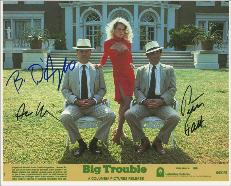 Image 1 for Big Trouble Movie Cast - Autographed Signed Photograph co-signed by: Peter Falk, Beverly D'Angelo, Alan Arkin - HFSID 299930
