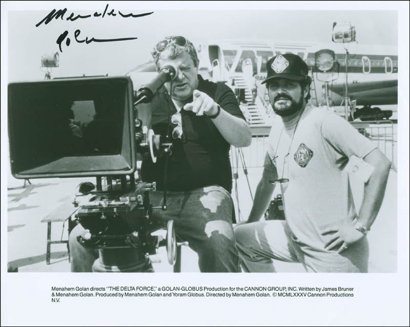 Image 1 for Menahem Golan - Printed Photograph Signed In Ink - HFSID 299953