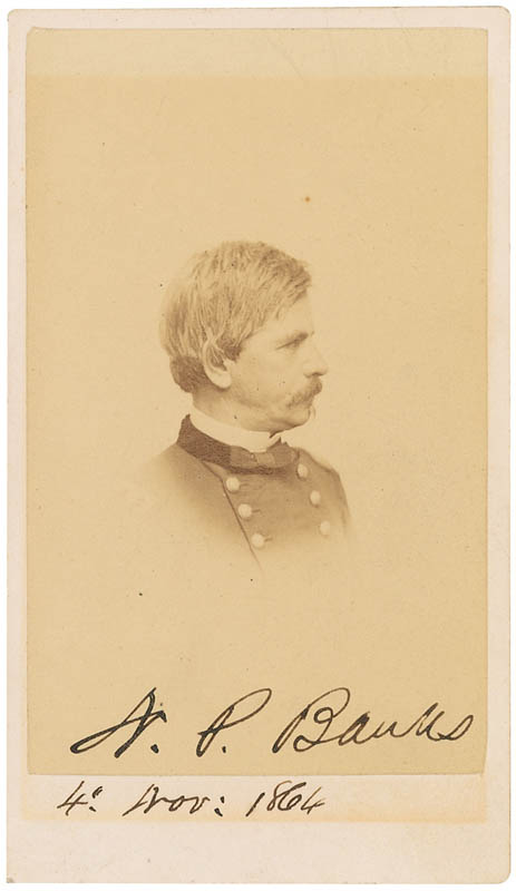 Image 1 for Major General Nathaniel P. Banks - Autographed Signed Photograph 11/04/1864 - HFSID 300035