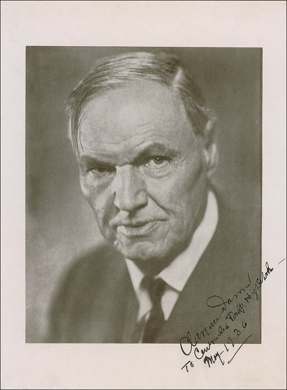Image 1 for Clarence Darrow - Autographed Inscribed Photograph 05/1936 - HFSID 300052