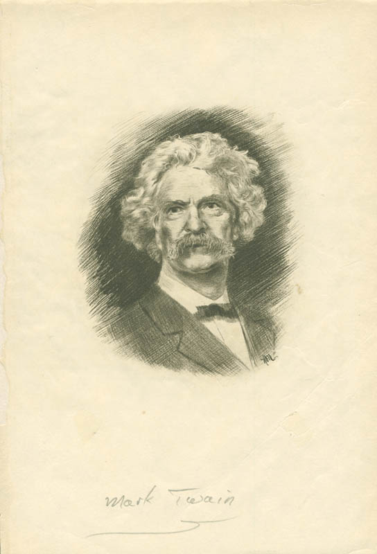 Image 1 for Samuel L. 'Mark Twain' Clemens - Illustration Unsigned - HFSID 3000520