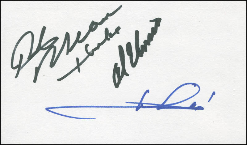 Image 1 for Mario Andretti - Autograph co-signed by: Rick Mears, Al Unser - HFSID 300113