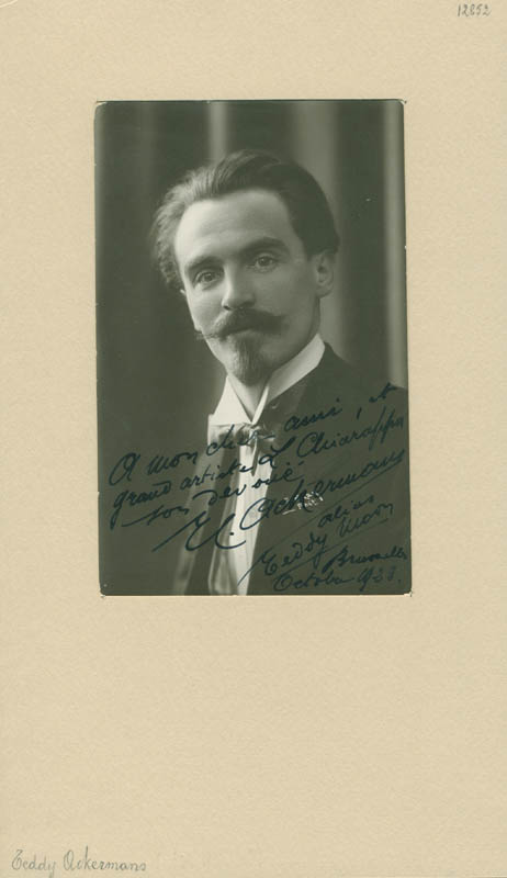 Image 1 for E. C. 'Eddy' Ackermann - Autographed Inscribed Photograph 10/1923 - HFSID 300200