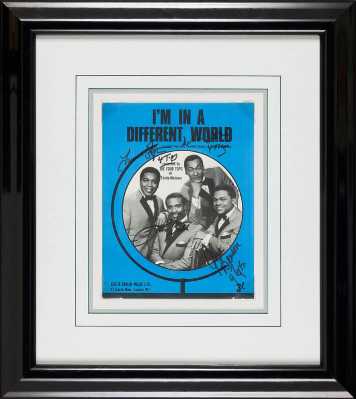 Image 1 for Four Tops - Sheet Music Signed with co-signers - HFSID 300228