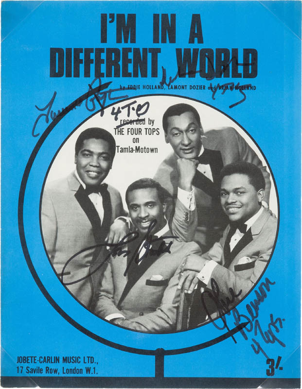 Image 3 for Four Tops - Sheet Music Signed with co-signers - HFSID 300228