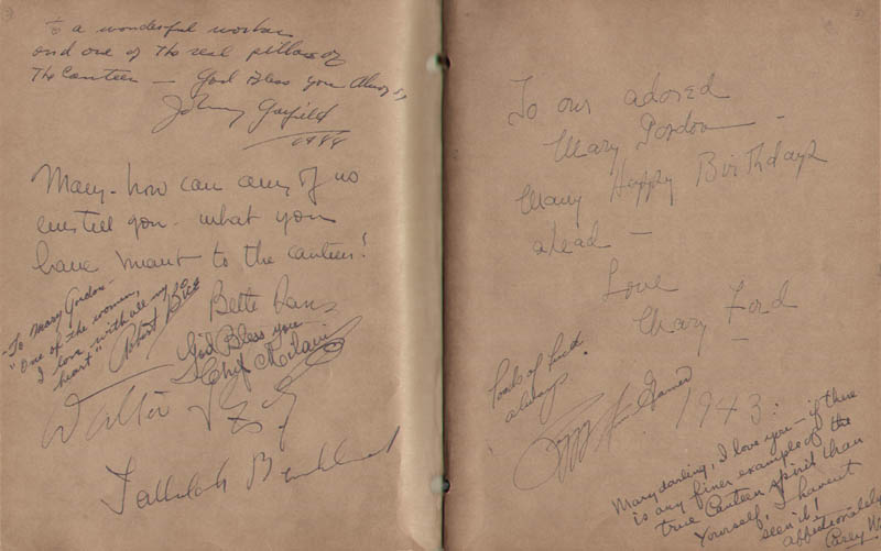 Image 3 for Hollywood Canteen - Book Signed with co-signers - HFSID 300234