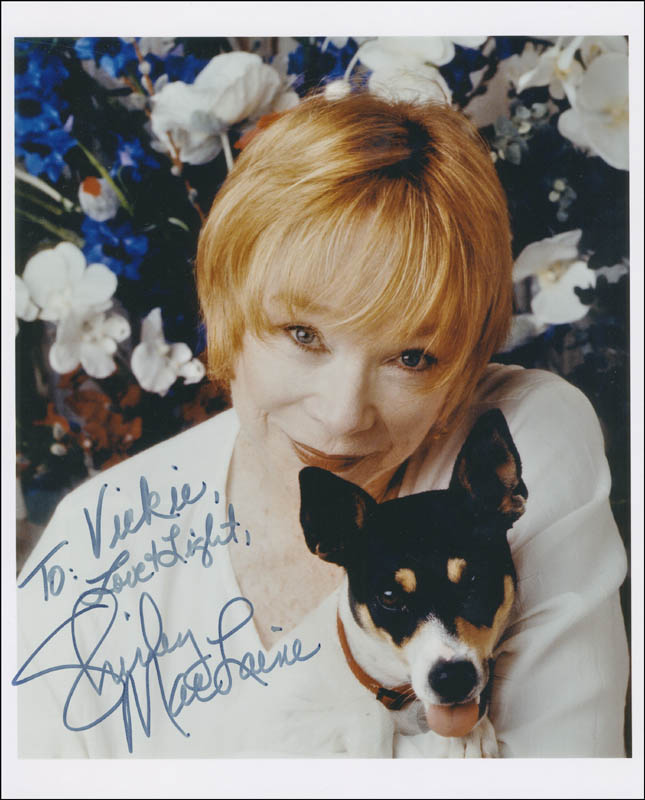 Image 1 for Shirley Maclaine - Autographed Inscribed Photograph - HFSID 300332
