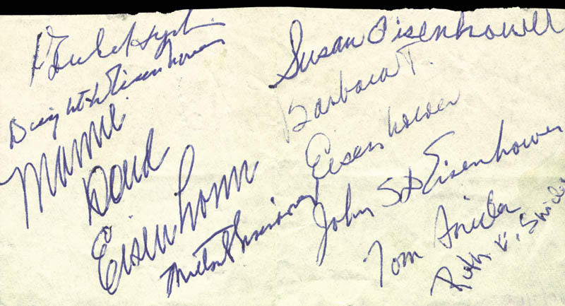 Image 1 for President Dwight D. Eisenhower - Autograph Circa 1962 with co-signers - HFSID 30034