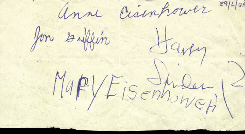 Image 3 for President Dwight D. Eisenhower - Autograph Circa 1962 with co-signers - HFSID 30034