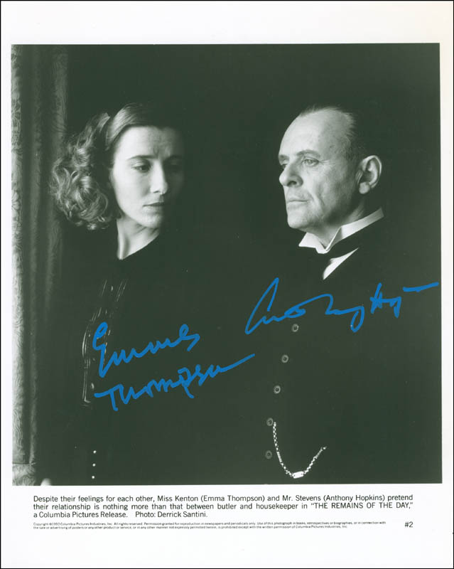 Image 1 for The Remains Of The Day Movie Cast - Autographed Signed Photograph co-signed by: Emma Thompson, Anthony Hopkins - HFSID 300350