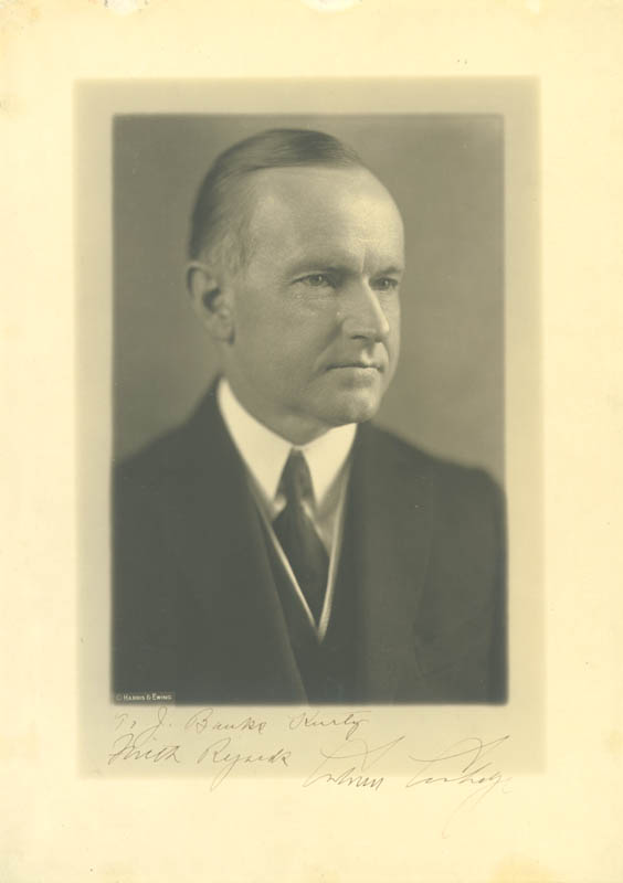 Image 1 for President Calvin Coolidge - Autographed Inscribed Photograph - HFSID 30036